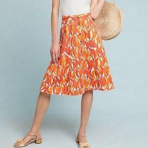 Banana Grove Denim Midi Skirt size 8 NWT-Anthro
